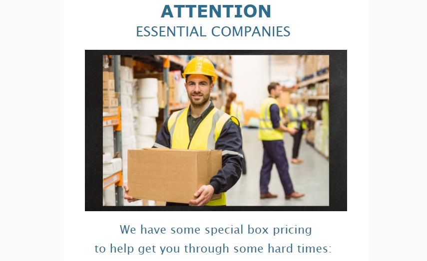 Leader Box essential businesses